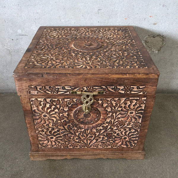 Carved Wood Trunk