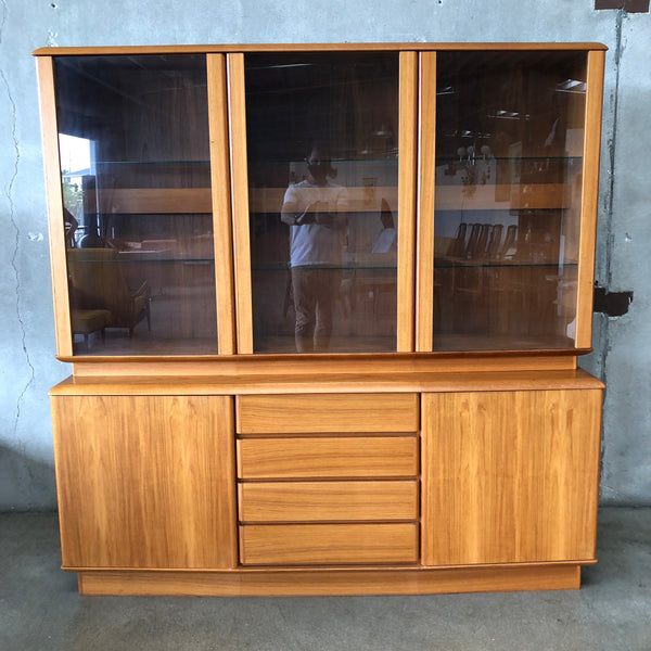 Mid Century Style Teak Hutch by Nordic Furniture
