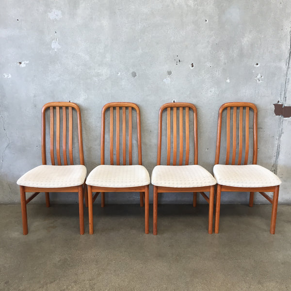 Mid Century Danish Teak Chairs - set of 4