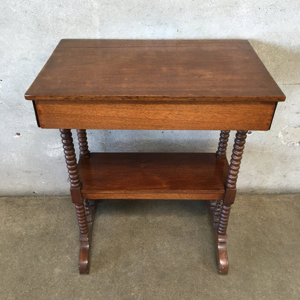 Vintage Victorian Sewing Table With Drawer