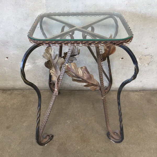 French Iron & Glass Garden Table