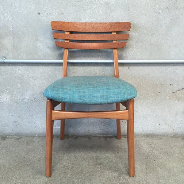 Slotted Back Mid Century Desk Chair