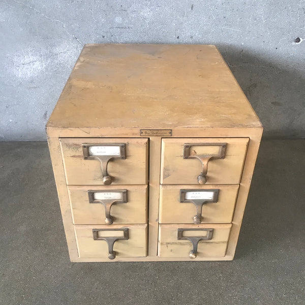 Antique / Industrial Index Card Cabinet