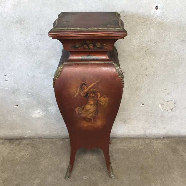 Victorian Hand Painted Stand with Bronze Ormolu Trim