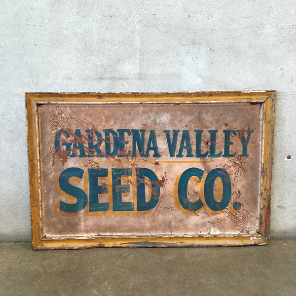 Vintage Gardena Valley Seed CO. Sign