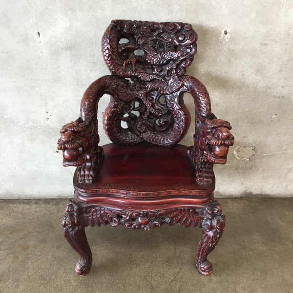 Vintage Chinese Dragon Chair