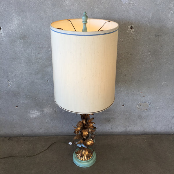 Vintage Hollywood Regency Turquoise Lamp