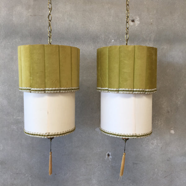 Vintage Pair of Swag Lamps