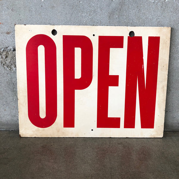 Vintage Wood Open Sign