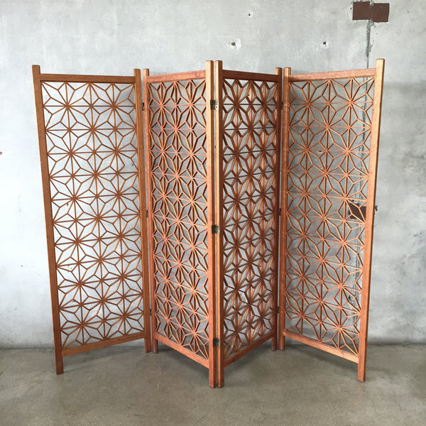 Danish Modern Teak Wood Screen Divider