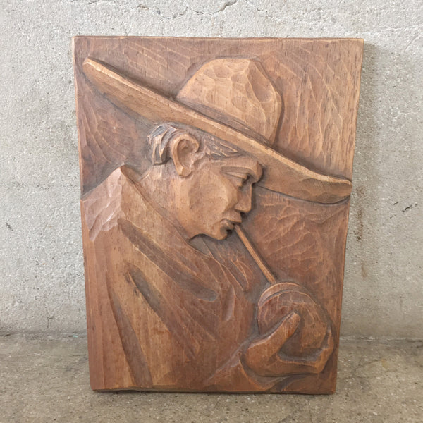 Mexican bas relief wood carving urbanamericana