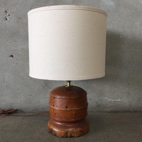 Solid Turned Wood Lamp