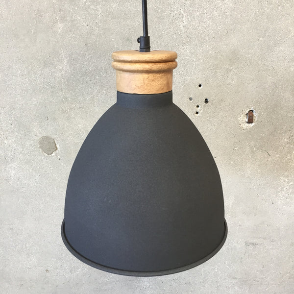 Small Gray Hanging Light Fixture