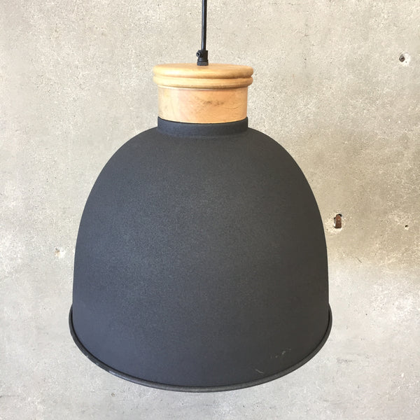 Large Gray Hanging Light Fixture