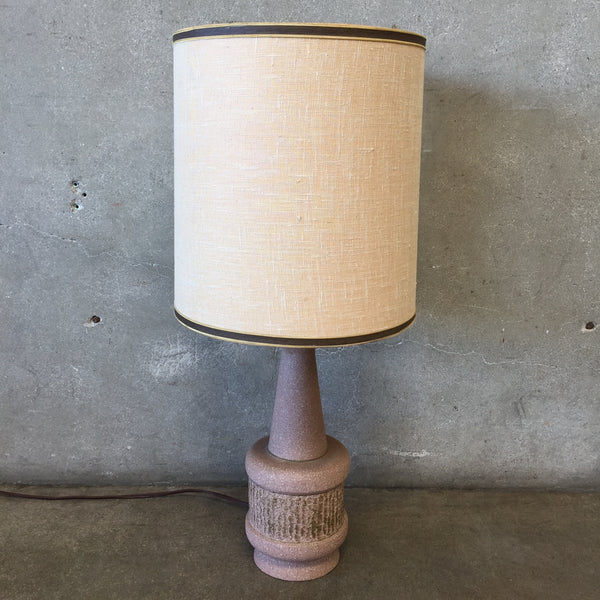 Vintage Mauve Colored Table Lamp