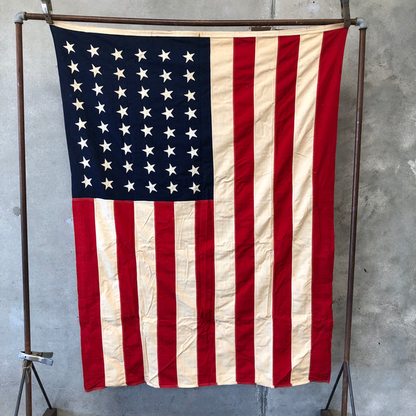 Vintage 48 Star Cotton American Flag