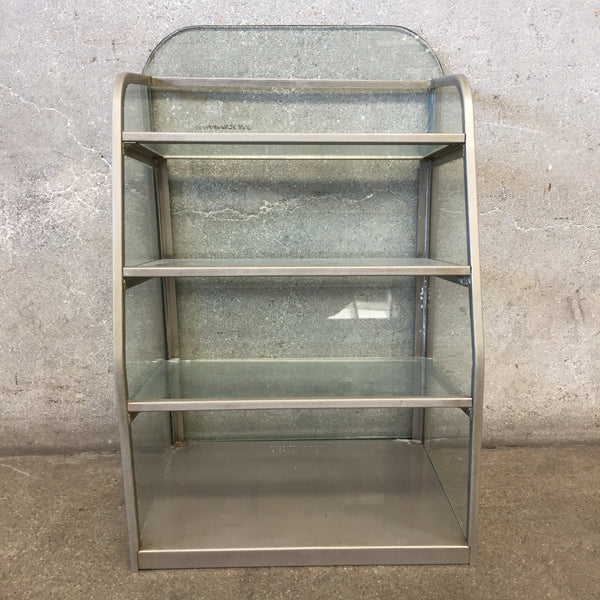 Vintage Glass and Metal Display Shelf
