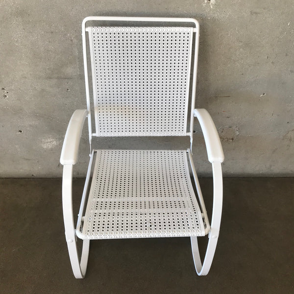Mid Century Metal White Chair