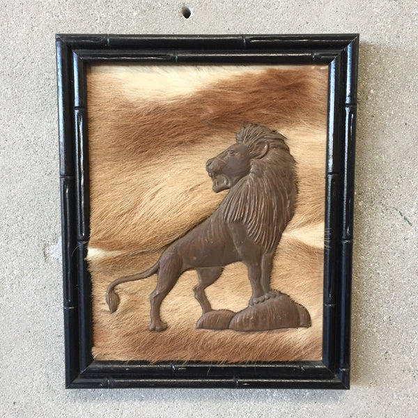 Vintage African Lion Fur Wall Decor