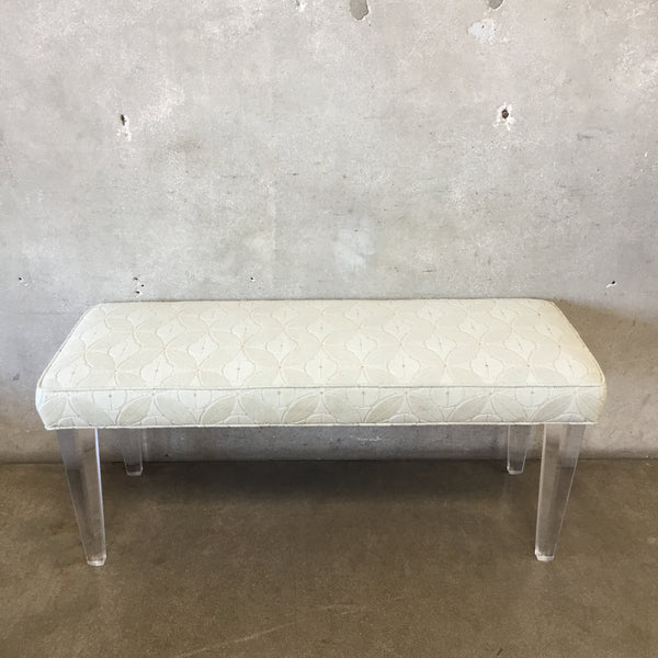 Mid Century Style Lucite Bench