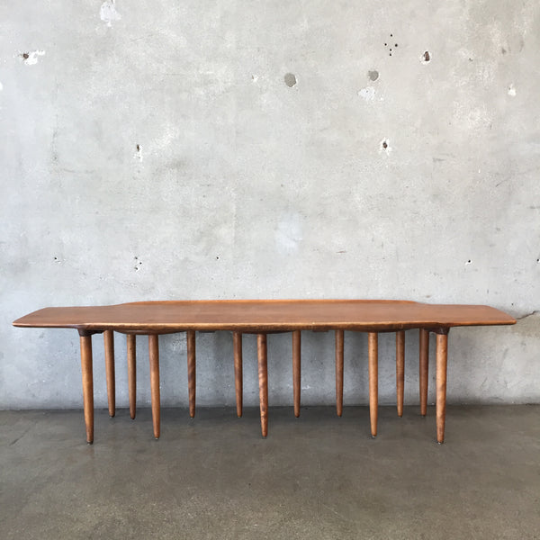 Russel Wright Mid Century Coffee Table with Hidden Nesting Tables
