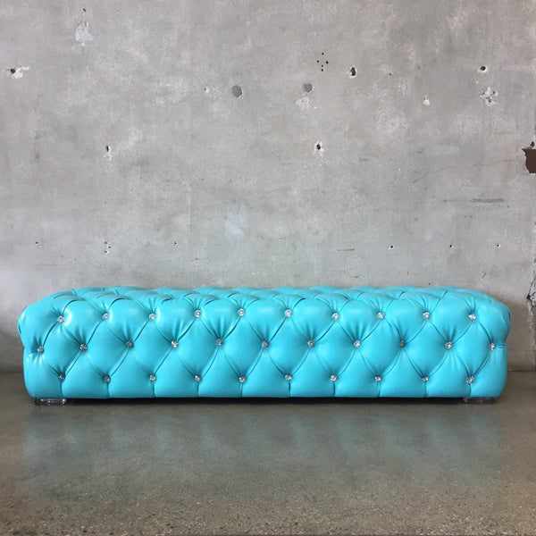 Mid Century Tufted Chesterfield Schlomi Haziza Bench