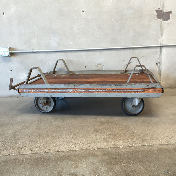 Industrial Cart Coffee Table on Casters