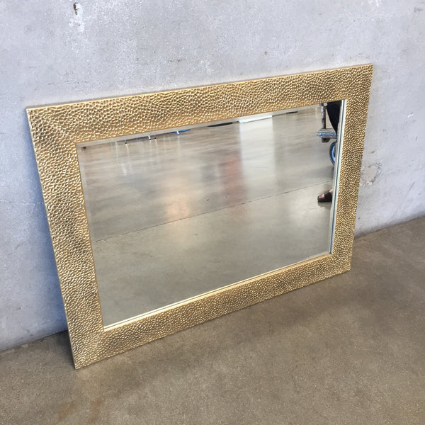 Modern Gold Textured Mirror