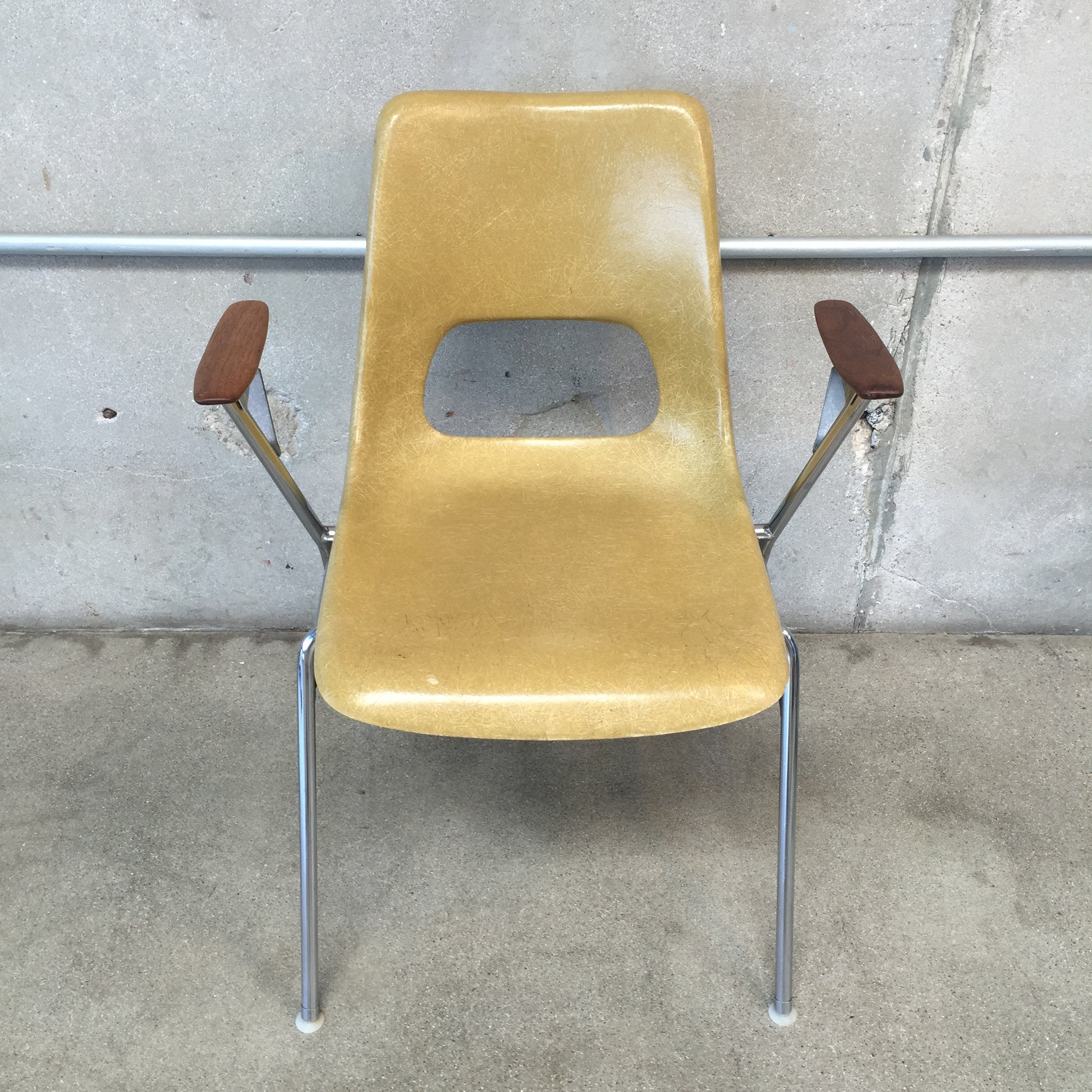 Fiberglass Shell Chair With Arms ...