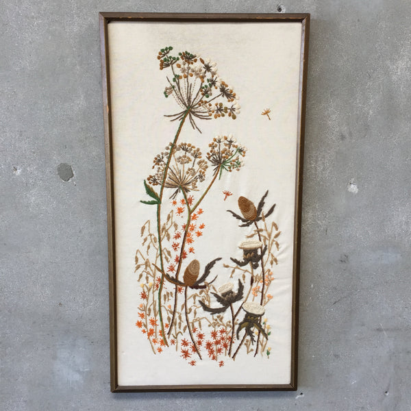 Vintage Wild Grass Embroidery