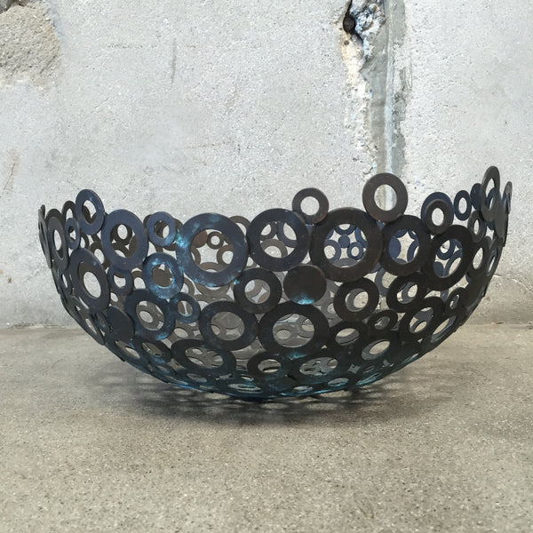 Vintage Aram-esque Metal Washer Bowl
