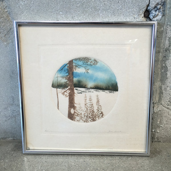 Vintage Signed Water Color
