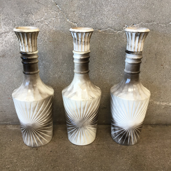 Set of Three Mid Century Decanters