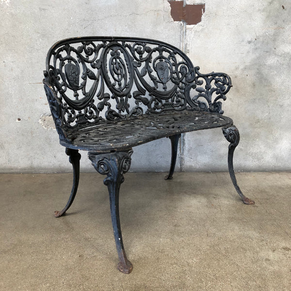 Antique Cast Iron Bench
