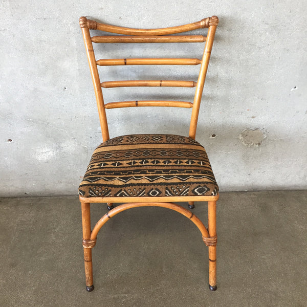 Vintage Bamboo Wicker Chair