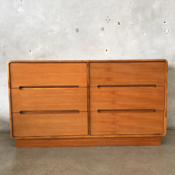 Teak Six Drawer Dresser
