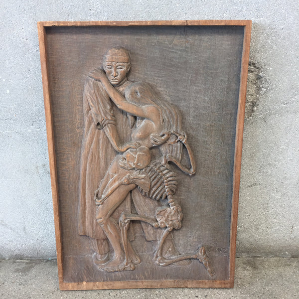 Mexican bas relief carving by a cruz urbanamericana