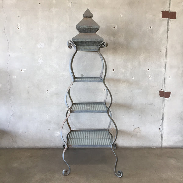 Large Vintage Garden Pagoda Plant Stand