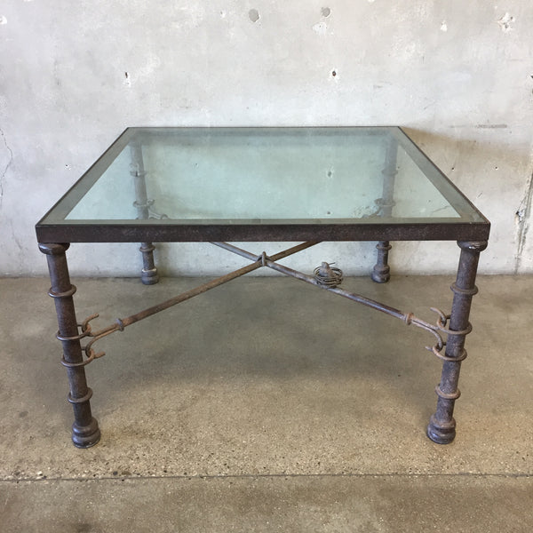 Antique Wrought Iron Table