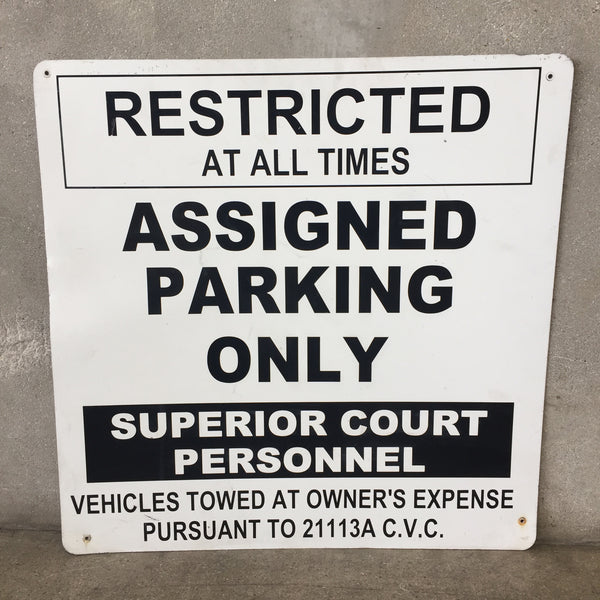 Old Long Beach Courthouse Parking Sign