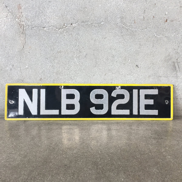 European Front License Plate