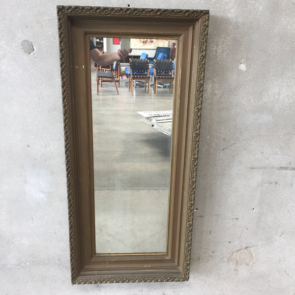 Antique Gold Gilded Wood Gesso Frame Mirror