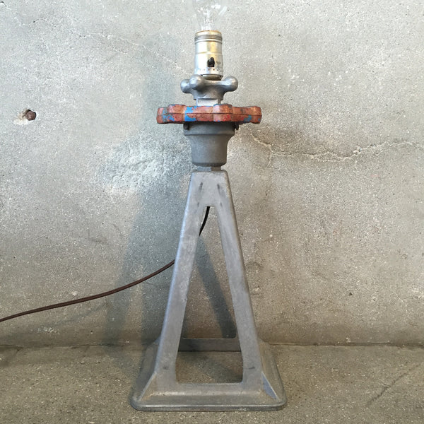 Industrial Jack Stand Lamp