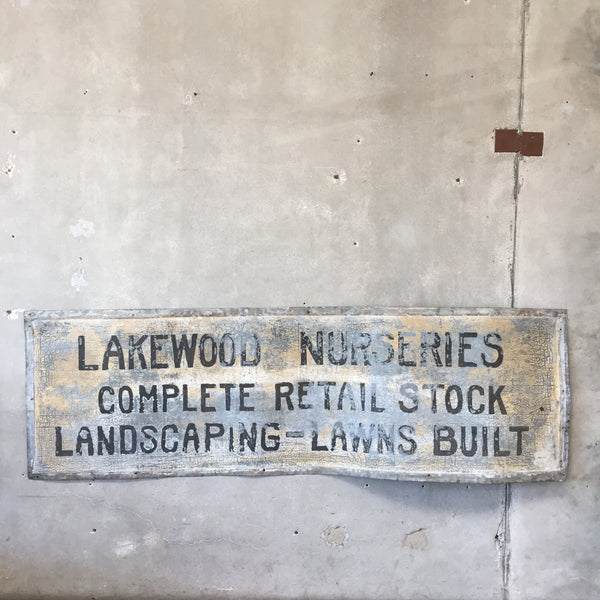 Lakewood Metal Nursery Sign