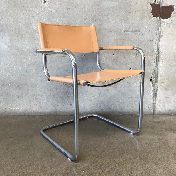 Chrome and Leather Chair by Marcel Breuer