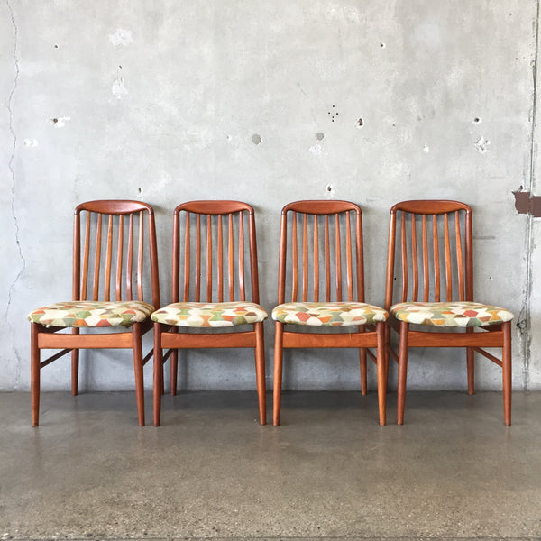 Set of Four Vintage Mid Century Chairs