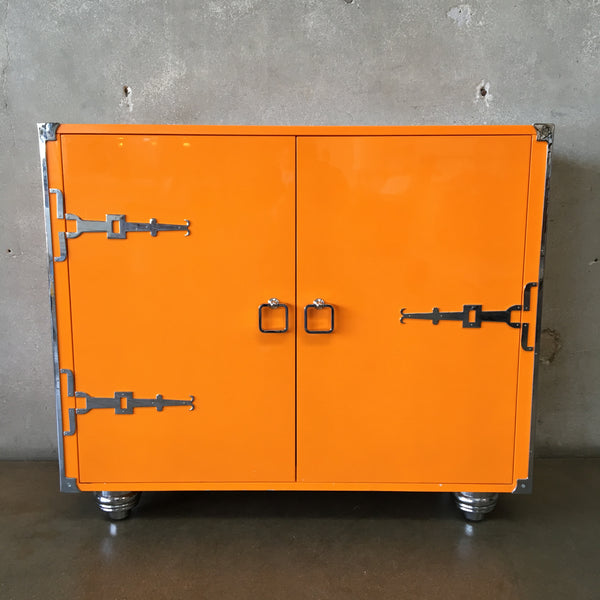 Italian Style Lacquered and Lucite Cabinet