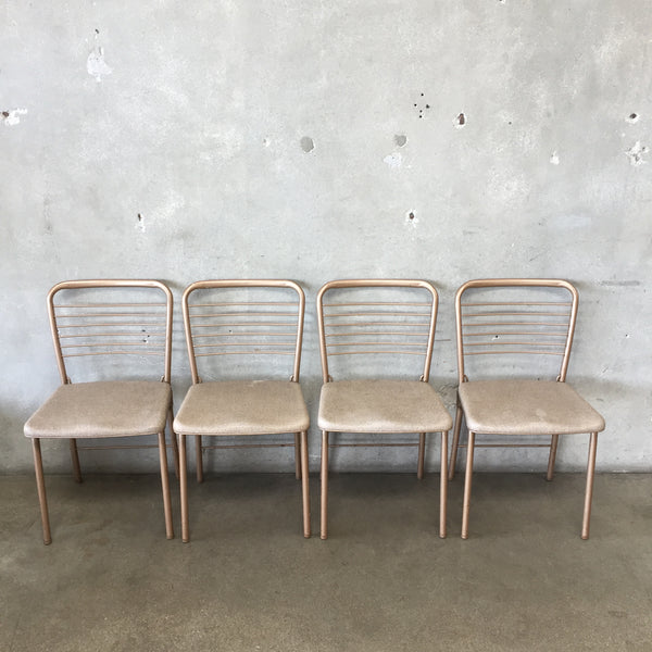 Set of Four Vintage Cosco Fashion Folding Chairs