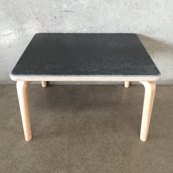 Mid Century Modernica Brazilian Walnut Coffee Table with Black Top