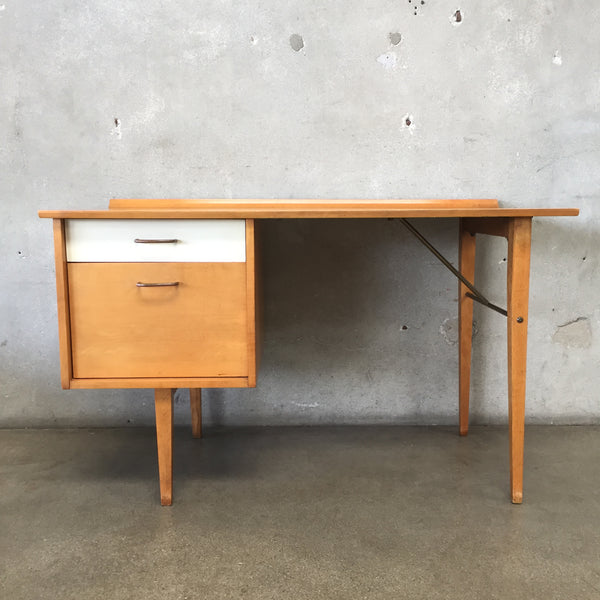 Mid Century Modern Birch Wood Desk